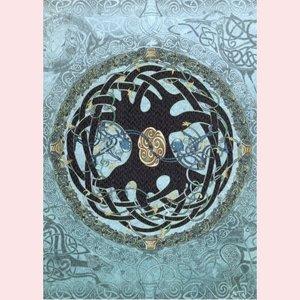 Amber Lotus Celtic tree of life wenskaart