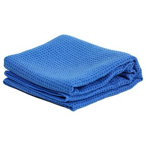yoga handdoek anti slip blauw