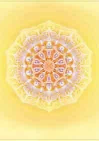 kaart zonnevlecht chakra mandala