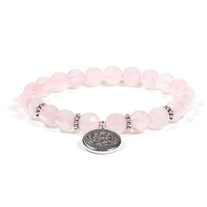 mala armband rozenkwarts