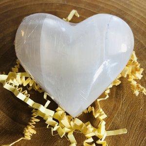 seleniet edelsteen hart groot