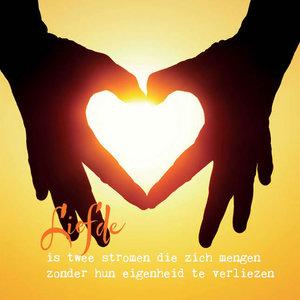 wenskaart liefde is twee stromingen