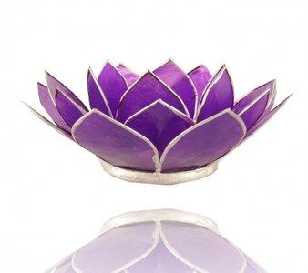 Waxinelichthouder 'Chakra' 7 violet