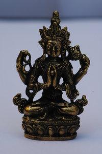 Avalokitheswara Kharachheri 5,7 cm (mini, brons)
