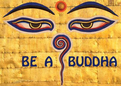 Postcard - Be A Buddha