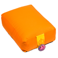 yoga bolster rechthoekig oranje